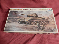1/35 Tamiya Mokei RC Lin Motorized Russian T34 / 85 Twin Motors Push Button RC