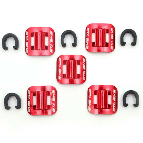 5*Bicycle Brake Cable Buckles Line Guide Tubing Fixed Clamp C-Shape Cord Holder