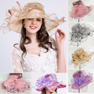 Caricamento dell immagine in corso elegante-Cappello-da-donna-organza-sposa- di-MATRIMONIO- cc27b584a0ff