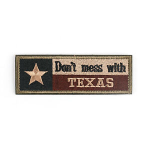 Don-039-T-Mess-With-Texas-Tx-State-Flag-USA-Army-Morale-Tactical-Forest-Badge-Patch