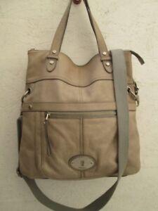 cc99673346 Magnifique authentique grand sac à main FOSSIL cuir vintage bag | eBay
