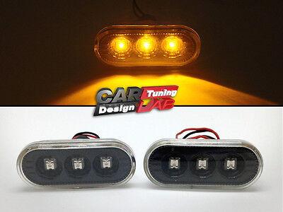 1 Pair Side Marker Lights Amber LED Side Markers Turn Signal Light for MK4 B5 B5.5 Black Lens