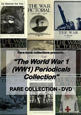 World War 1 Magazines on USB 1914-1918 WW1 Great war Illustrated New History M0
