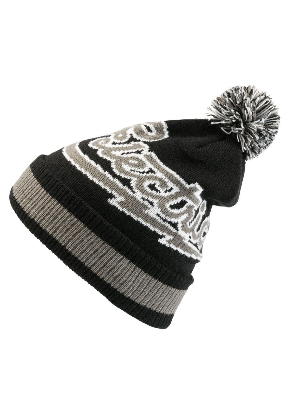 ELECTRIC Mascot Mens Beanie NEW Black CAP Rolled Cuff POM BEENIE CAP Black Free Shipping a842c4