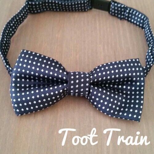 Children Kids Toddler Boys Check Polla dot Bowtie Pre Tied Bow Tie Necktie Black