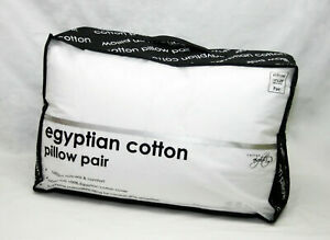 Luxury-Pillow-Hotel-Quality-Pair-Of-Hypoallergenic-100-EGYPTIAN-COTTON-Pillows