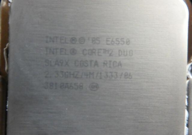INTEL SLA9X E6550 Core 2 Duo Processor CPU 2.333GHz/4M/1333MHz