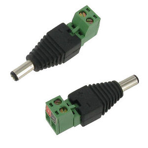 10 pack 2.1mm x 5.5mm male DC power plug connector CCTV