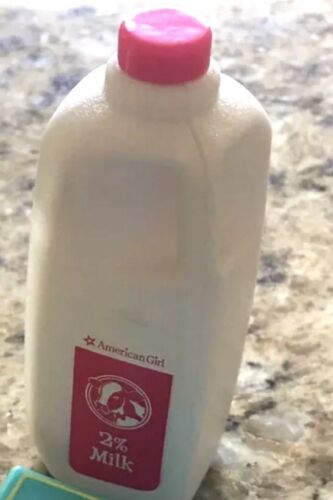 NEW American Girl Gourmet Kitchen Milk Container Miniature Doll Food