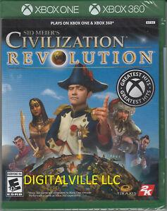Sid Meier's Civilization Revolution Xbox One and Xbox 360 Brand New Sealed