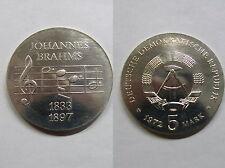 DDR , 5 Mark 1972 ST ,  Johannes Brahms