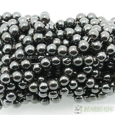 Natural MAGNETIC Hematite Gemstones Round Beads 16/'/' 4mm 6mm 8mm 10mm 12mm