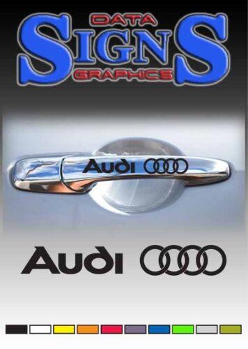 AUDI Rings Logo Premium Door Handle Decals Stickers