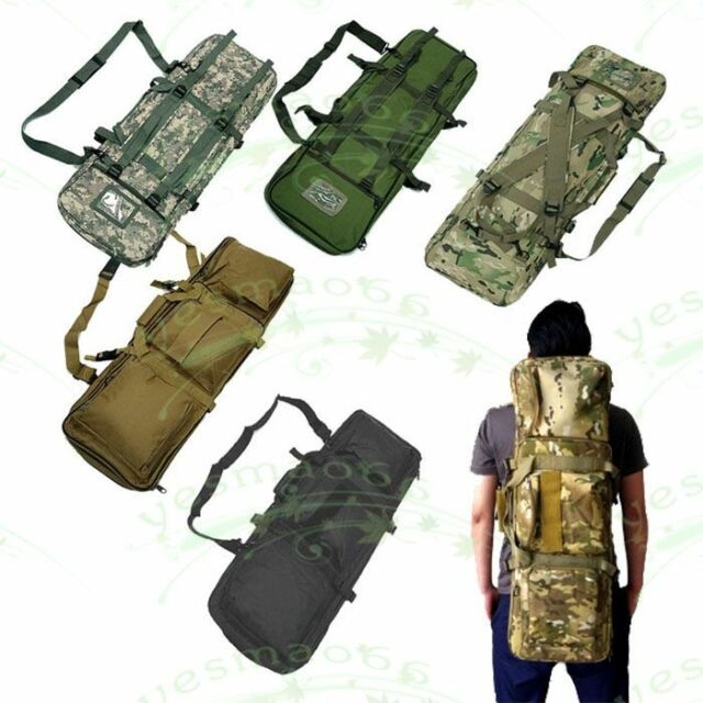 Double Rifle Military Tactical Gun Bag Hunting Carry Gun Shoulder Strap Bag 85cm