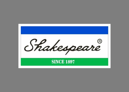 Shakespeare decals stickers bass boat tournament sponsor fishing rod reel