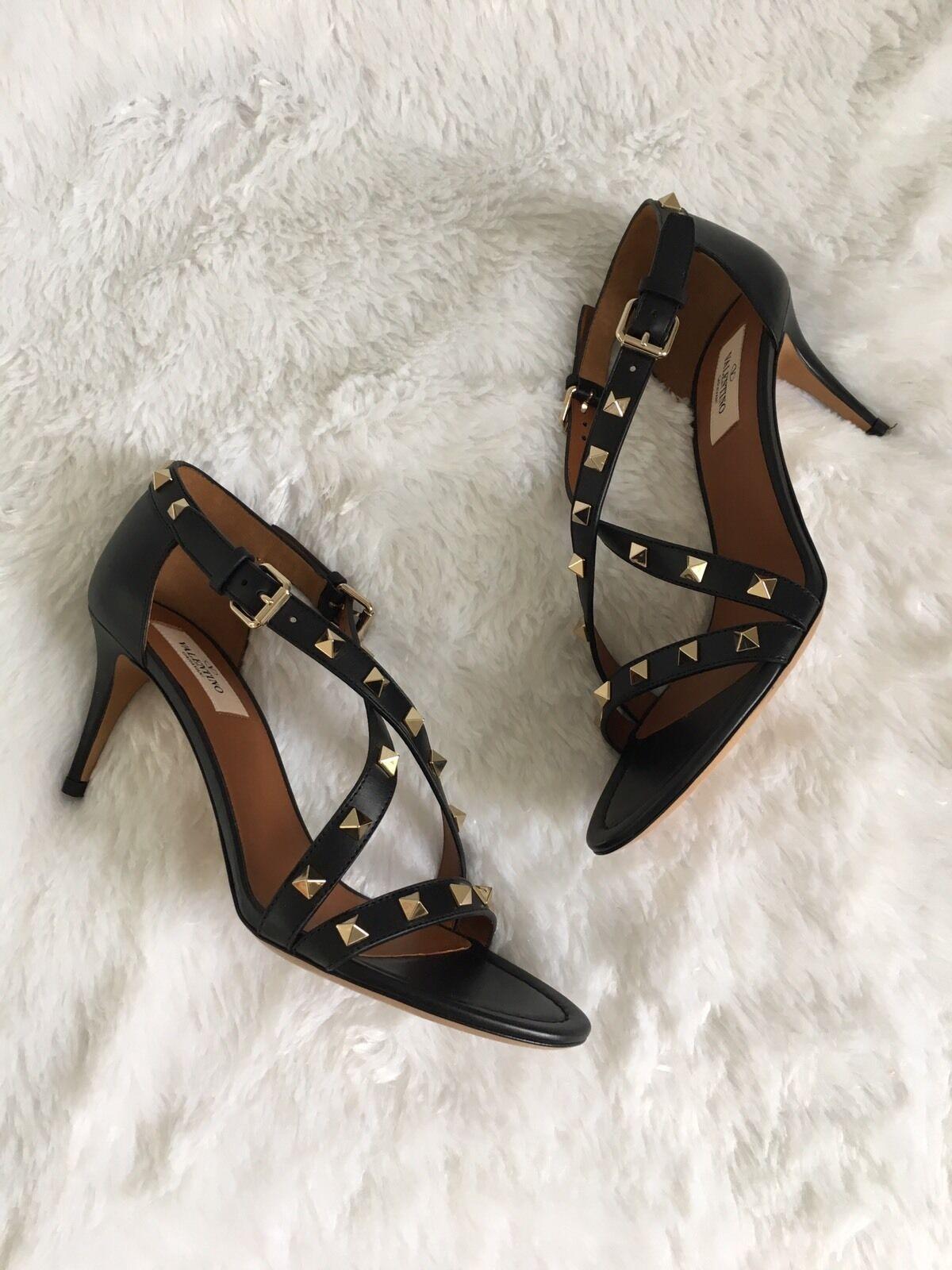 Valentino Rockstud Rockstud Rockstud Crisscross 70mm Sandal 38.5  945 f42a8d