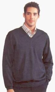 JOCKEY-Pullover-V-Ausschnitt-Schurwolle-marine-stahlblau-anthrazit-braun