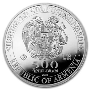 ARMENIE-500-Dram-Argent-1-Once-Arche-de-Noe-2019