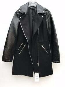 ZARA-WOOL-BIKER-COAT-WITH-FAUX-LEATHER-SLEEVES-SIZE-M-REF-5854-227