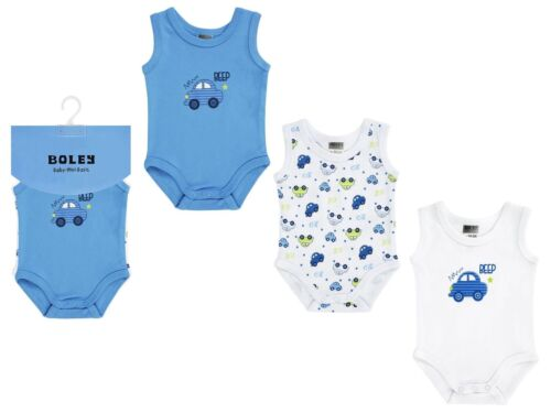 """50//56-86//92 Jacky Baby Achsel Body 3er-Pack /""""Auto/""""  Junge blauGr"""