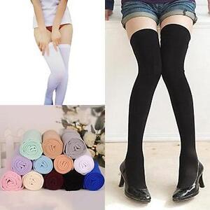 42932b85632 EG  Women s Girls Warm Over The Knee Thigh High Soft Socks Stockings ...