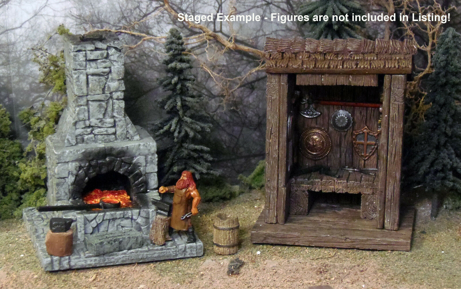 Painted Forge Set with Tool   Weapon Shed - Works with Dwarven Forge and DnD D&D