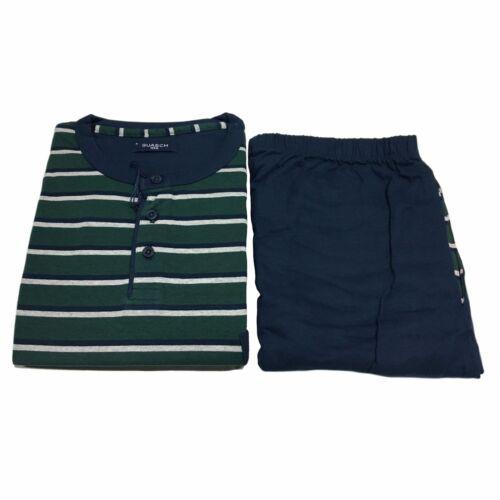 GUASCH pyjama homme à rayures bleu/vert bord 100% coton GP181 D.463