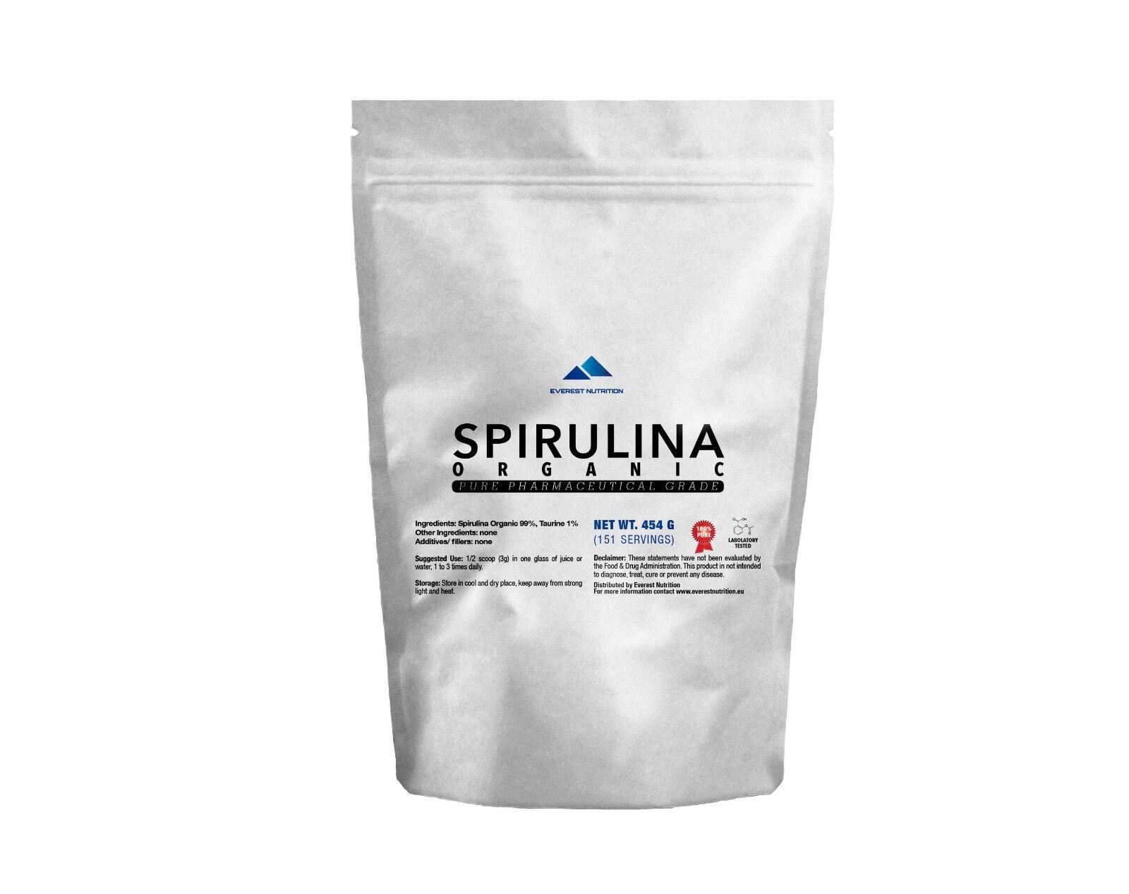 SPIRULINA ORGANIC 100% PURE POWDER SUPERFOOD