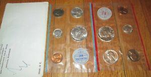 "1964 Official U.S Envelope Still Sealed. Mint Set All /""PD/"" mints 10 Coins"