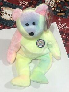 B. B. Bear - Ty  Beanie Baby  Bear -  Happy Birthday Bear - MWMT