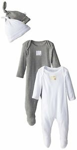 7 Colors Burt/'s Bees Baby Girls/' Set of 2 Organic Coveralls and Knot Top Hats