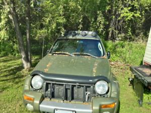 2002 jeep liberty  blown motor