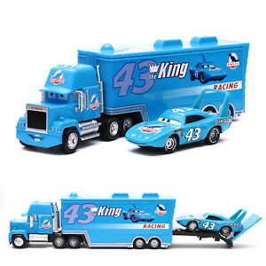 Disney-Pixar-Cars-NO-43-King-amp-Dinoco-Mack-Truck-1-55-Diecast-Toy-Car-Loose-New