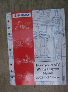 2003 Suzuki Motorcycle ATV Wiring Diagram Manual K3 Model ...