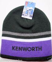 Kenworth Beanie Stocking Cap Hat Truck Toboggan Ski Ladies Kw Semi Purple