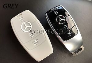 Silicone 3 button smart key fob protector cover 2016 2017 for Mercedes benz amg key fob back cover