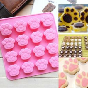 Silicone-Cat-039-s-Paw-Ice-Cube-Chocolate-Cake-Cookie-Soap-Mold-Mould-Baking-Tray-Q