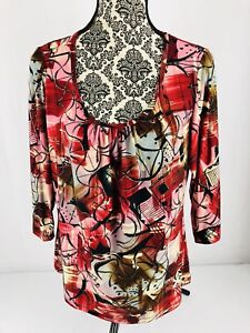 Investments-Women-039-s-Multi-Colored-XL-Blouse