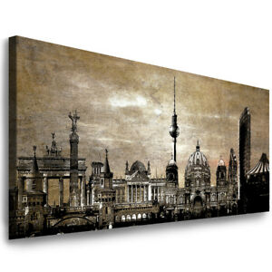 leinwand bilder xxl wandbild berlin bild stadt kunstdruck aufgespannt deko ebay. Black Bedroom Furniture Sets. Home Design Ideas