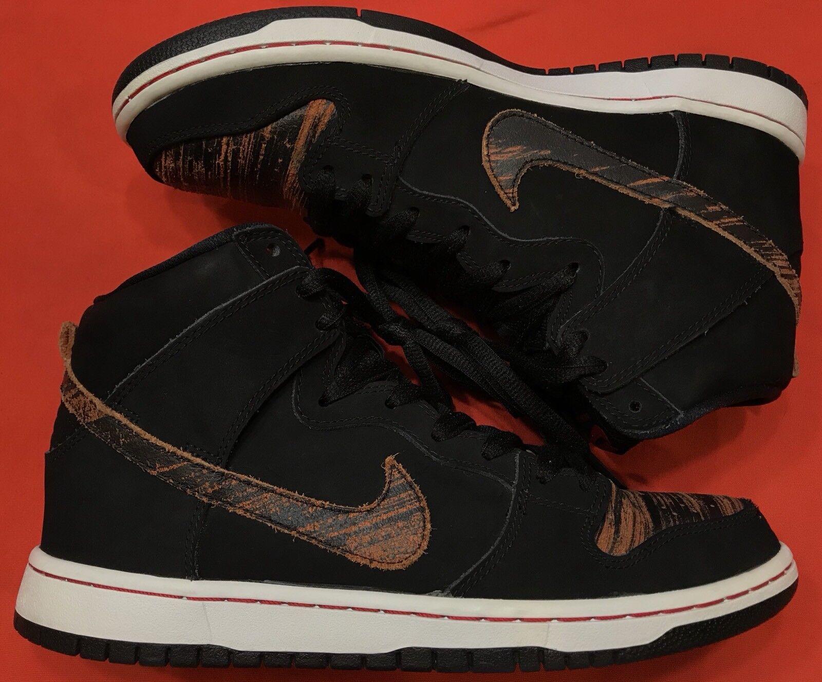 Nike canestro alto (sb angosciata di pelle nero university red 305050-026 sz - 9