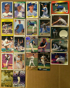RANDY-JOHNSON-LOT-of-34-RC-Rookie-inserts-base-cards-NM-1989-1999-The-Big-Unit