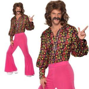 sale retailer d02cb c65fa Dettagli su Da Uomo Adulto Anni 60 Psichedelico Cnd Abito Moda Rétro '60  Costume Divertente