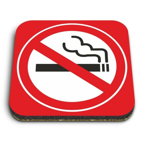 Square MDF Magnets No Smoking Sign Office Workplace  #5472