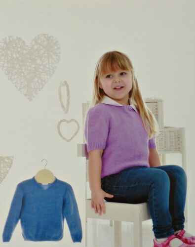 Baby Knitting Pattern 4 Plis Pull /& Cardigan longues ou Manches courtes.