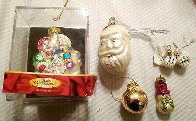 Santa Ball Dice Christmas Tree Glass Ornament Rite Aid World Market Lot Of 6 Ebay