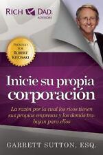 Inicie Su Propia Corporacion by Garrett Sutton (2015, Paperback)