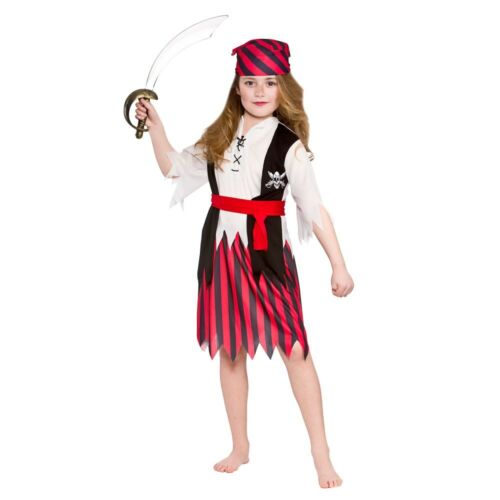 Child PIRATE Caribbean Buccaneer Book Week Neverland Fancy Dress Costume Outfit