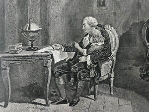 Louis-XVI-Roi-de-France-et-sa-famille-au-temple-gravure-vers-1840