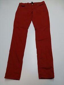 Forever 21 Pantalones Para Mujer Talla 27 Rojo Ajustado Pantalones Informales Buen Estado Ebay