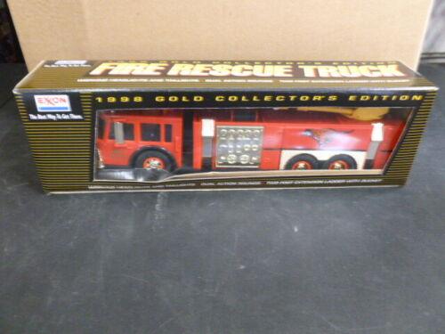 1998 Exxon Fire Rescue Truck Gold Edition